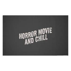 Horror Movie And Chill Woven Rug