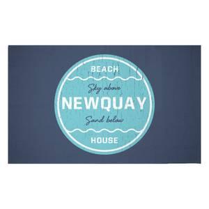 Newquay Beach Badge Woven Rug