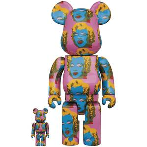 Medicom Andy Warhol's Marilyn Monroe 2 100% & 400% Be@rbrick 2 Pack