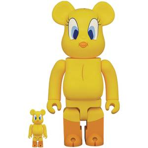 Medicom Looney Tunes Tweety 100% & 400% Be@rbrick 2 Pack