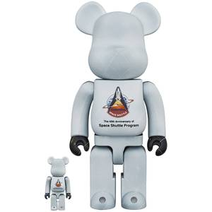 Medicom NASA Space Shuttle 40th Anniversary 100% & 400% Be@rbrick 2 Pack