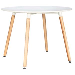 Chloe Round Dining Table - White