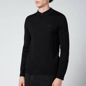 A-COLD-WALL* Men's Render Long Sleeve Polo Shirt - Black