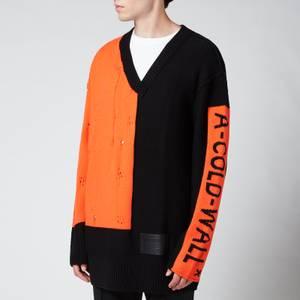 A-COLD-WALL* Men's Erosion Knit Jumper - Black