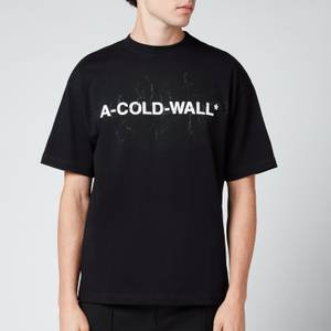 A-COLD-WALL* Men's Cracked Logo T-Shirt - Black
