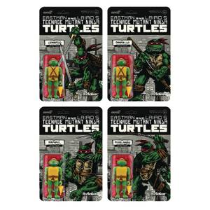 Super7 Teenage Mutant Ninja Turtles ReAction Figures - Mirage Comics Variant 4 Pack