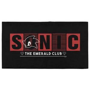 Sonic The Hedgehog The Emerald Club Gym Towel