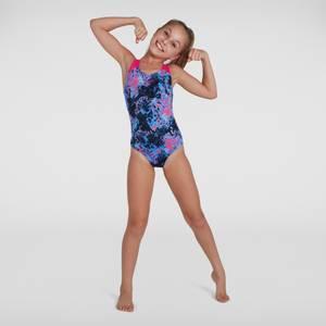 Girl's Allover Splashback Swimsuit Black