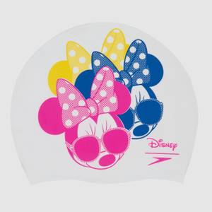 Unisex Minnie Mouse Slogan Print Cap White