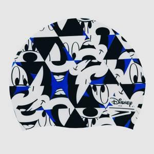 Bonnet de bain Enfant Mickey Mouse Slogan Imprimé Bleu