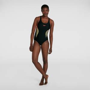 Women's Placement Muscleback Swimsuit Black