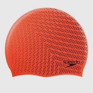 Unisex Reversible Moulded Silicone Cap Orange