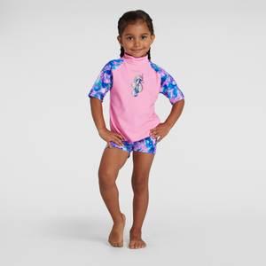 Kleinkind Mädchen Sun Protection Top & Shorts in Pink