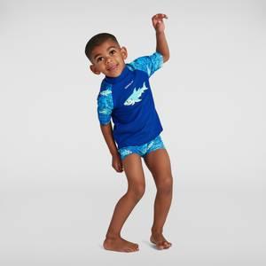 Kleinkind Jungen Sun Protection Top und Shorts in Blau