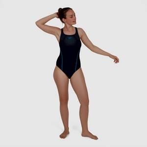 Hexagonal Tech Medalist Swimsuit