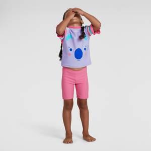 Kleinkind Mädchen Koko Koala Sun Protection Top & Shorts in Pink
