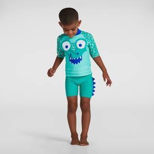 Corey Croc Swim Top & Short Set