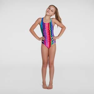 Girl's Digital Allover Medalist Swimsuit Multicolour