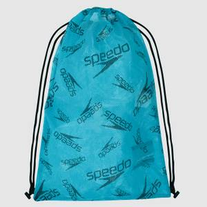 Unisex Printed Mesh Bag Blue