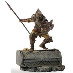Iron Studios Le Seigneur des anneaux BDS Statuette Échelle 1/10 Orc blindé 20 cm