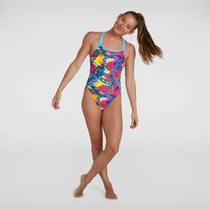 Women's Allover Starback Swimsuit Blue