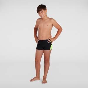 Boy's Boom Logo Splice Aquashort Black