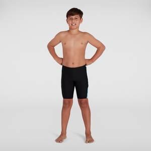 Jungen Boom Logo Splice Schwimmhose in Schwarz