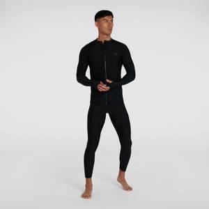 T-shirt rashguard Femme Essential Zippé sur le devant Noir
