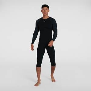 T-shirt rashguard Hommes Sports Manches longues Noir