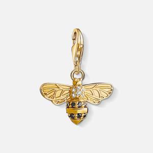 THOMAS SABO Women's Charm Pendant Bee - Yellow Gold-Coloured