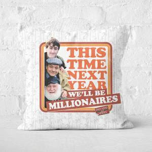 Only Fools And Horses This Time Next Year We'll Be Millionaires Square Cushion