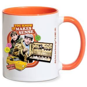 Only Fools And Horses You Know It Makes Sense Mug - White/Orange