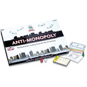 Anti-Monopoly Board Game