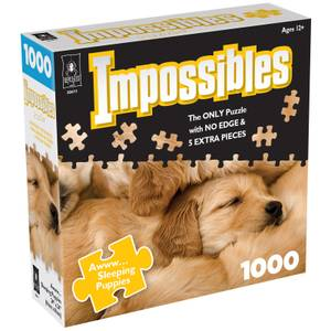 Impossible Puzzles - Sleeping Puppies Jigsaw Puzzle