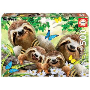 Sloth Family Selfie Jigsaw Puzzle (500 Pieces)