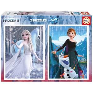 Disney Frozen 2-in-1 Jigsaw Puzzles (500 Pieces)