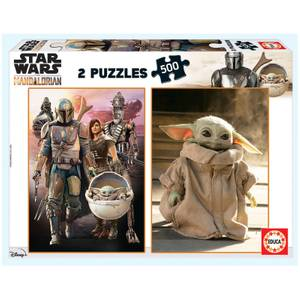 Mandalorian 2-in-1 Jigsaw Puzzles (500 Pieces)
