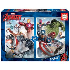 Marvel Avengers 2-in-1 Jigsaw Puzzles (500 Pieces)