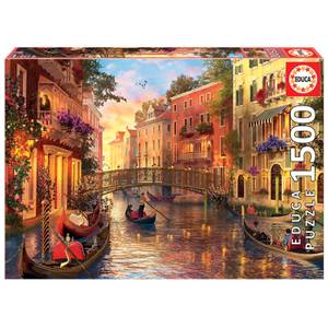 Sunset In Venice Jigsaw Puzzle (1500 Pieces)