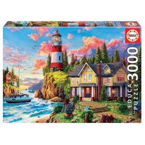 Lighthouse and Cottage Jigsaw Puzzle (3000 Pieces)