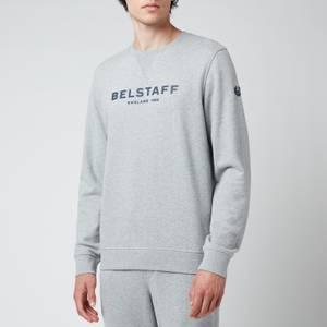 Belstaff Men's 1924 Sweatshirt - Grey Melange/Dark Navy