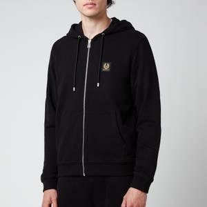 Belstaff Men's Patch Logo Zip-Through Hoodie - Black
