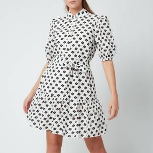 Kate Spade New York Women's Block Floral Shirt Dress - Cream