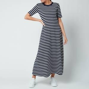 Kate Spade New York Women's Striped Midi Dress - Rich Navy