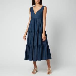 Kate Spade New York Women's Chambray Vineyard Midi Dress - Indigo