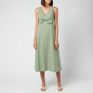 Kate Spade New York Women's Mini Gingham Bow Dress - Courtyard