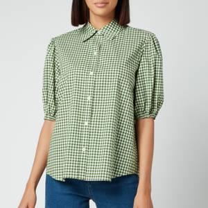 Kate Spade New York Women's Mini Gingham Button Up Shirt - Courtyard