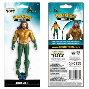 Noble Collection DC Comics Aquaman Mini Bendyfig 5.5 Inches