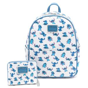 Loungefly Disney Stitch Aop Poses Mini Backpack and Wallet Set - VeryNeko Exclusive