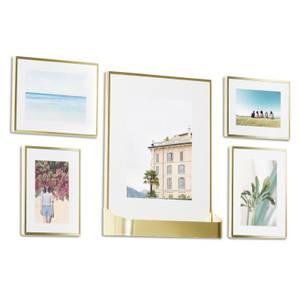 Umbra Matinee Gallery Frames (Set of 5) - Matte Brass